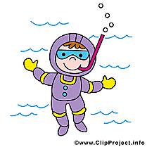 Plongeur dessin gratuit - Métier clip arts gratuits