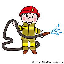Pompier métier illustration à télécharger gratuite