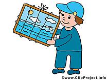 Porteur dessin gratuit - Métier  image gratuite