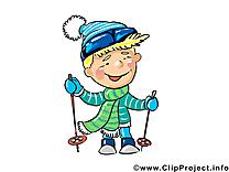 Skieur dessin gratuit - Profession clip arts