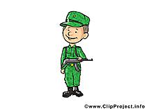 Soldat illustration gratuite – Armée clipart