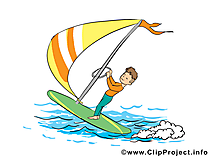 Surfeur dessin - Profession cliparts à télécharger