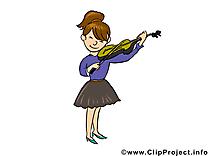Violoniste profession dessin gratuit à télécharger
