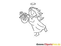 Ange baptême coloriage à télécharger gratuite