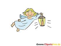 Ange baptême illustration à télécharger gratuite