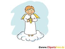 Ange clip arts gratuits - Baptême illustrations