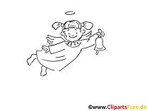 Ange dessin à imprimer - Baptême images