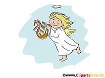 Ange illustration gratuite - Baptême clipart