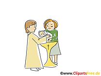 Baptême clip art gratuit dessin