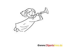 Baptême images à colorier - Ange dessins gratuits