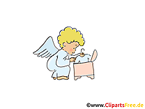 Bébé ange clip art gratuit – Baptême images gratuites