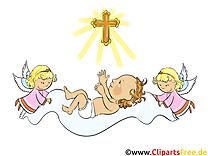 Bébé clip arts gratuits - Baptême illustrations