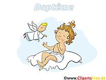 Bébé cliparts gratuis - Baptême  images gratuites