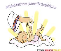 Bébé dessin à télécharger - Baptême images
