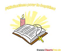 Bible clipart gratuit - Baptême dessins