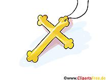 Croix dessin gratuit - Baptême clip arts gratuits
