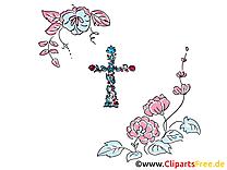 Fleurs baptême image à télécharger gratuite