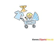 Landau image gratuite - Baptême illustration