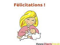 Mère dessin gratuit - Baptême image gratuite