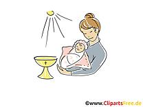 Mère image à télécharger - Baptême clipart