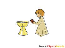 Prêtre image gratuite - Baptême cliparts