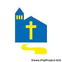 Dessin église – Communion clip arts gratuits