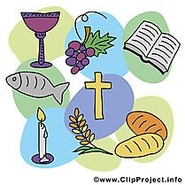 Fête cliparts gratuis – communion images