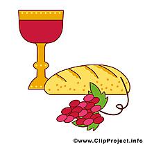 Pain vin dessin – Communion cliparts à télécharger