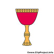 Vin illustration gratuite – Communion clipart