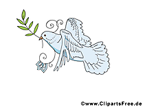 Feuille d'olivier dessin - Pentecôte image gratuite