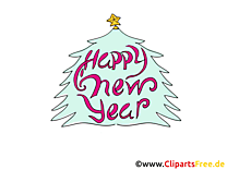Happy New Year Clipart, eCard, Image
