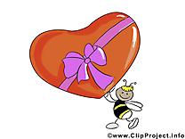 Abeille clipart - Saint-Valentin cartes gratuites