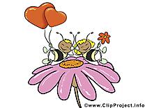 Abeilles carte à télécharger - Saint-Valentin image