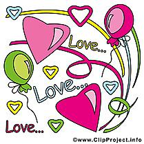 Amour clip art gratuit - Saint-Valentin dessin