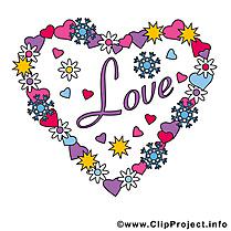 Amour clip art gratuit – Coeur images gratuites
