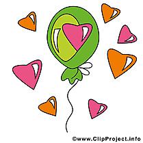 Ballon dessin à télécharger - Saint-Valentin images