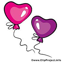 Ballons clipart gratuit -  Saint-Valentin dessins