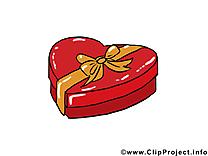 Cadeau clip art – Saint-Valentin images gratuites