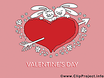 Carte Saint-Valentin à télécharger