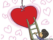 Carte virtuelle gratuite Saint-Valentin clip art