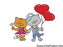 Chats carte gratuite - Saint-Valentin image