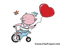 Cochon image gratuite – Saint-Valentin clipart
