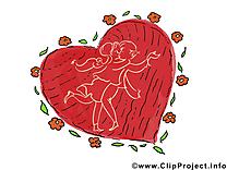 Coeur images - Saint-Valentin clip art gratuit