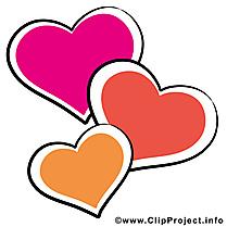 Coeurs carte gratuite - Saint-Valentin image