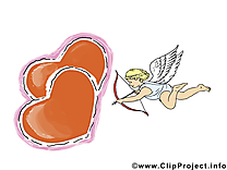 Cupidon carte gratuite - Saint-Valentin image