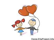 Enfants carte - Saint-Valentin images gratuites