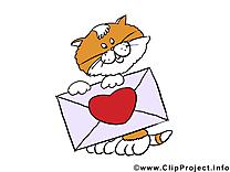 Enveloppe image - Saint-Valentin images cliparts