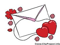 Enveloppe image gratuite - Saint-Valentin cliparts