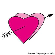 Flèche dessins gratuits - Coeurs clipart gratuit