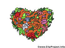 Fleurs clipart gratuit - Coeur dessins gratuits